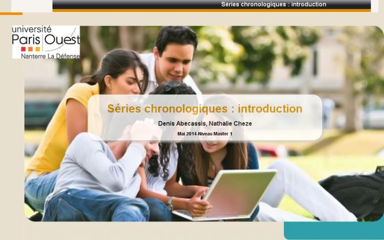 Accédez à la ressource pédagogique Séries chronologiques