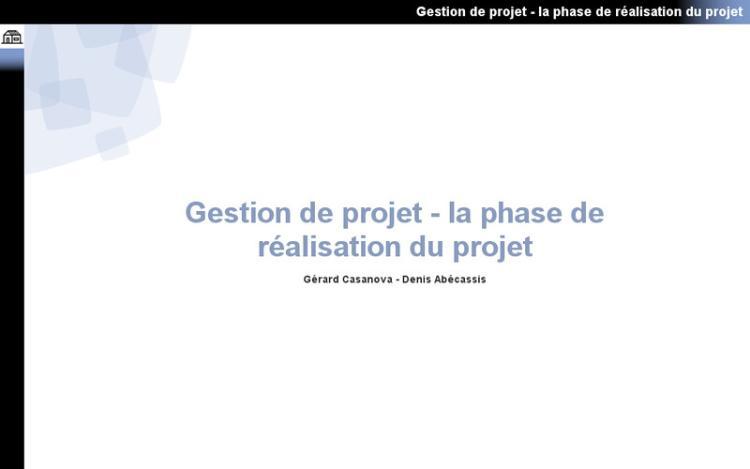 Accédez à la ressource pédagogique Gestion de projet : La phase de réalisation du projet
