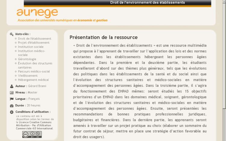 Accédez à la ressource pédagogique Droit de l'environnement des établissements