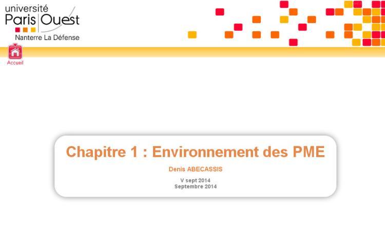 Accédez à la ressource pédagogique Introduction à la gestion des PME : Environnement des PME