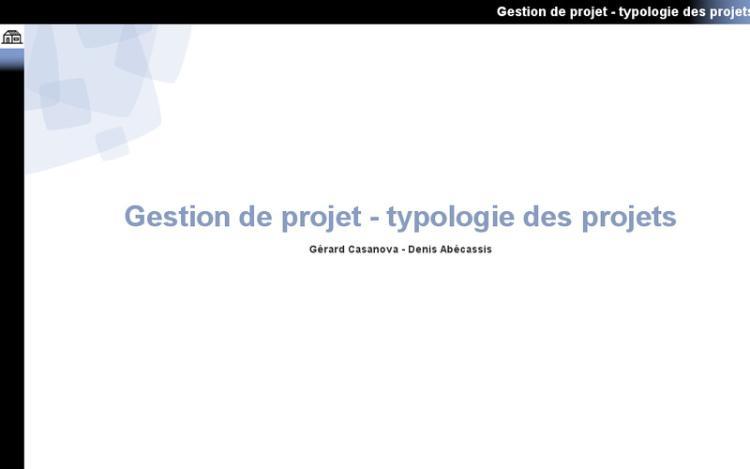 Accédez à la ressource pédagogique Gestion de projet : Typologie des projets