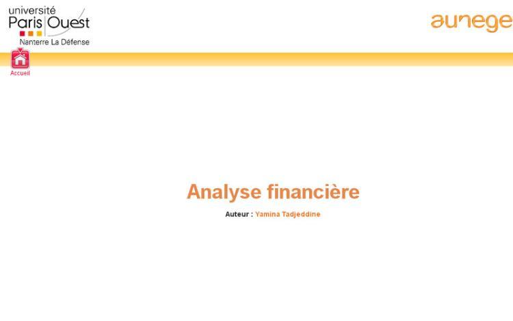 Accédez à la ressource pédagogique Analyse financière