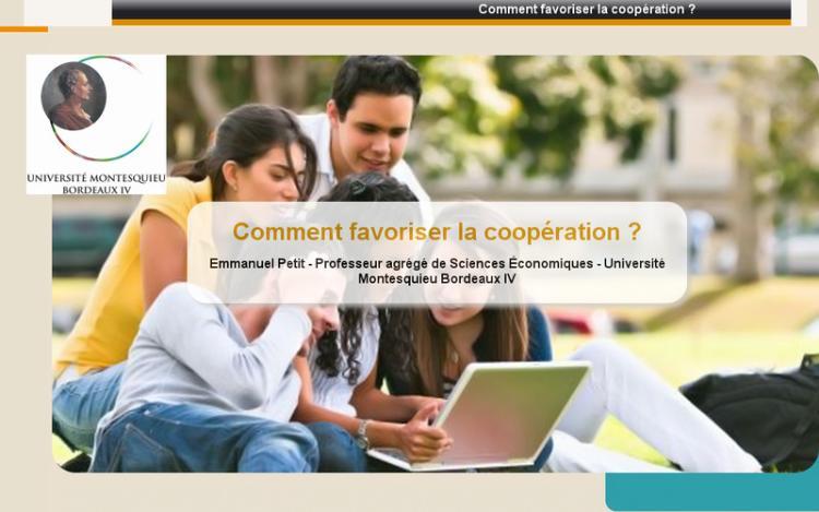 Accédez à la ressource pédagogique Comment favoriser la coopération ?