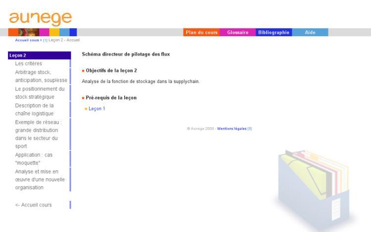 Accédez à la ressource pédagogique Logistique : Schéma directeur de pilotage des flux