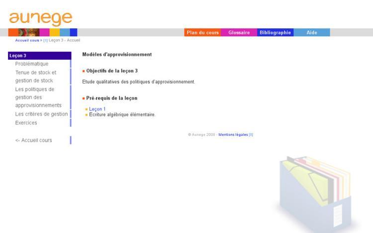 Accédez à la ressource pédagogique Logistique : Modèles d'approvisionnement