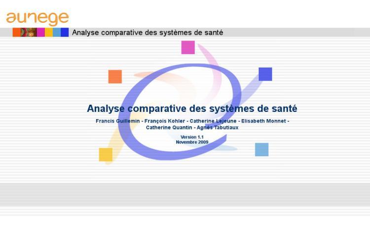Accédez à la ressource pédagogique Analyse comparative des systèmes de santé