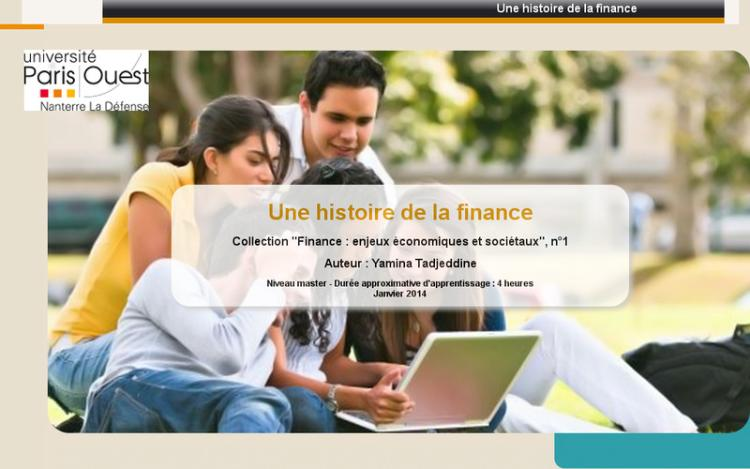 Accédez à la ressource pédagogique Une histoire de la finance