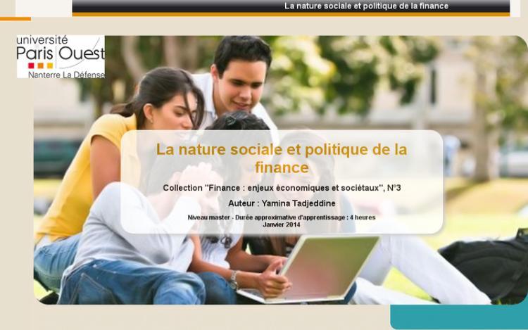 Accédez à la ressource pédagogique La nature sociale et politique de la finance