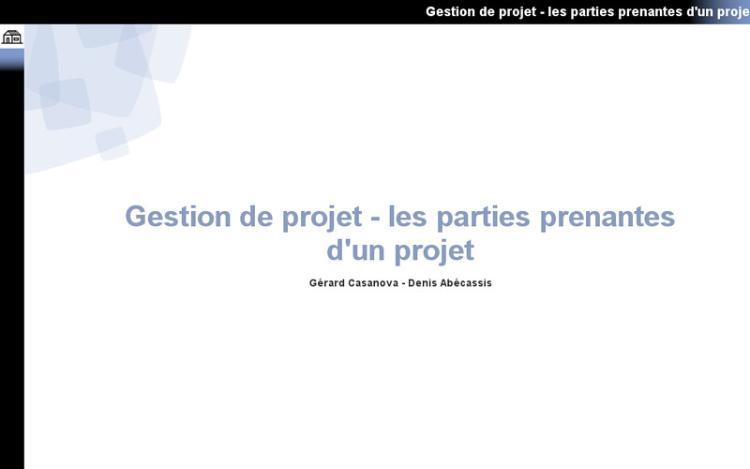 Accédez à la ressource pédagogique Gestion de projet : Les parties prenantes d'un projet