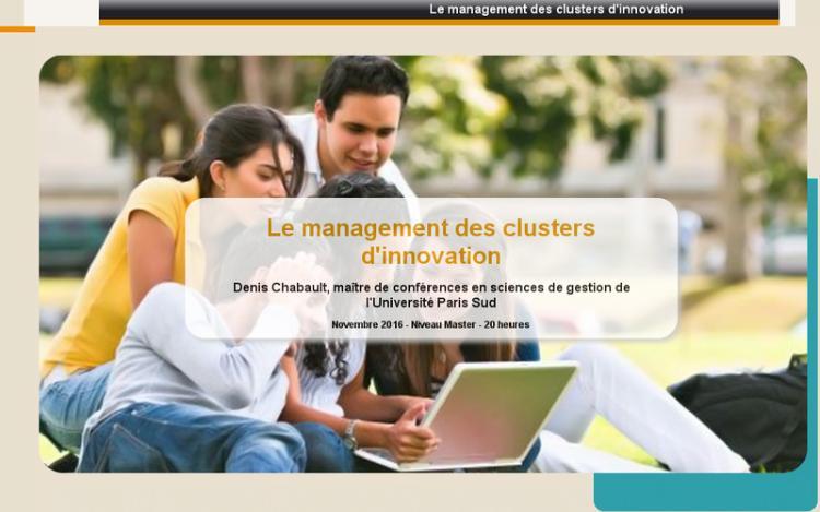 Accédez à la ressource pédagogique Le management des clusters d'innovation