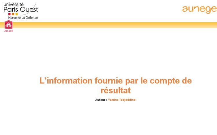 Accédez à la ressource pédagogique L'information fournie par le compte de résultat