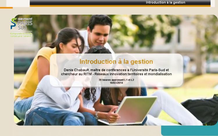 Accédez à la ressource pédagogique Introduction à la gestion