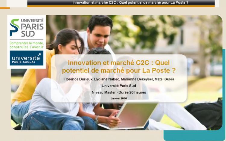 Accédez à la ressource pédagogique Innovation et marché C2C : Quel potentiel de marché pour La Poste?