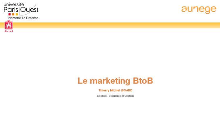 Accédez à la ressource pédagogique Le marketing BtoB
