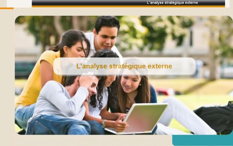 Accédez à la ressource pédagogique L'analyse stratégique externe