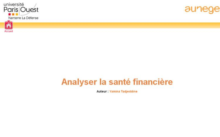 Accédez à la ressource pédagogique Analyser la santé financière